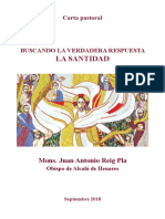 Carta Pastoral Mons. Reig Pla