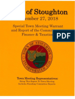 Stoughton Town Meeting Articles
