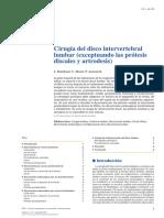 01 - Cirugía Del Disco Intervertebral Lumbar (Exceptuando Las Prótesis Discales y Artrodesis)