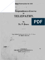 Correspondence Course in Telepathy - Dr. P Braun