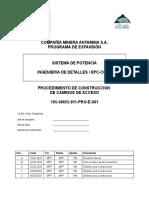 CONSTRUCCION CAMINOS DE ACCESO