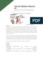A Qualidade Do Ensino Público Brasileiro