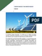 Energías Renovables y No Renovables