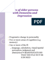 Care of older persons with Dementia and Depression.pptx
