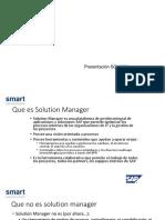 Funcionalidades Sap Solution Manager