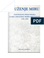 Dr. sc. Velimir Blažević, Služenje miru