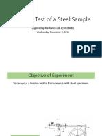 Torsion Test of a Steel Sample