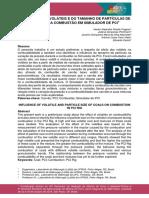 (Abm) - Influência Dos Voláteis e Do Tamanho de Partículas de Carvões Na Combustão Em Simulador de Pci - Hector