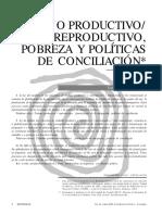 Trabajo Productivo/reproductivo Pobreza Y Políticas De Conciliación