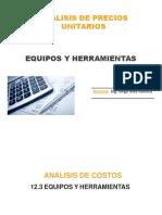Analisis de Precios Unitarios Equipos y