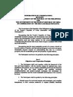 Memorandum of understanding on Belt and Road Initiative cooperation between Philippines and China