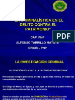 CRIMINALÌSTICA EN PATRIMONIO