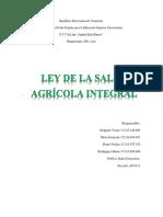 Análisis de La Ley de La Salud Agrícola Integral