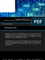 Cinetica de Lixiviacion de Mineral de Manganeso en Solucion de Acido Sulfurio Utilizando Agente Reductor de Mazorca de Amiz y Trigo