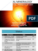 Optical Mineralogy Introduction of Light