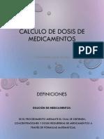 Calculo de Dosis de Medicamentos