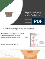 Hipotiroidismo en El Embarazo