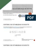 3.6 Criterio de Estabilidad de Routh - 3.7 Lugar de Las Raíces