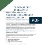 Saludo en Android