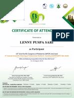3399 on REG Congress Certificate(1)
