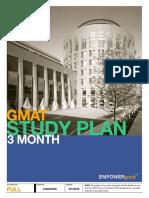 EMPOWERgmat 3 Month Study Plan 2019