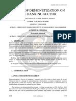 Impact of Demonetization on the Banking Sector Ijariie6106