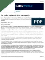 La Radio, Hacia Narrativa Transmedia - Radio World
