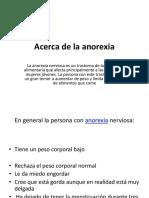 Acerca de La Anorexia