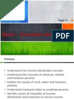 Topic 11 - Socio – Economic Issue