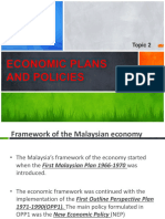 Economic Plans and Policies