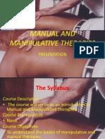 manual and manipulative therapies