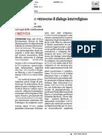 L'integrazione attraverso il dialogo interreligioso - Il Corriere Adriatico del 26 novembre 2018
