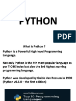 Python Day 1 Introduction