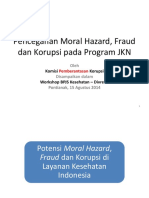 Pencegahan Korupsi Dan Fraud Pada Program JKN - Pontianak