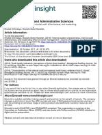 Endaya & Hanefah, (2016) Pengaruh Internal Auditor Characteristics, Internal Audit Efectiveness Moderat Senior Management