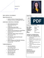 1 Fitness Resume