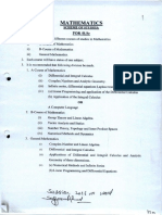 BSc (Math) Annual System Syllabus