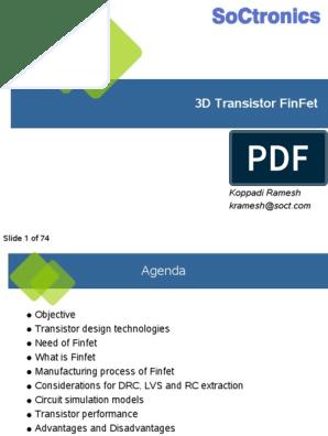 1538974143626 Presentation on FinFet | Field Effect