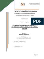 EVALUACIÓN DEL PAVIMENTO RÍGIDO DE LA  AV. EMILIANO ZAPATA., OAXACA DE JUÁREZ., OAXACA.