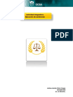 Actividad integradora. Ejecución de sentencias