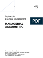 Managerial Accounting Manual