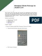 Cara Menghubungkan Mesin Fotocopy Ke Windows via Kabel LAN