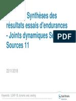 DTP 1742 - 11 Synthèses Des Résultats Essais d'Endurances - Joints Dynamiques Secondes Sources 3