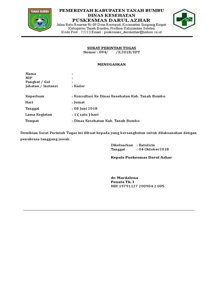 Surat Perintah Tugas Docx