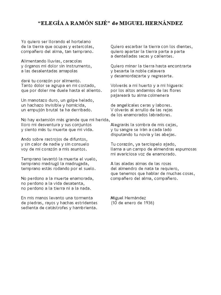 Miguel Hernandez Sonetos Poesía