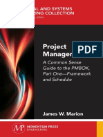 James W. Marion-Project Management_ A Common Sense Guide to the PMBOK, Part One-Framework and Schedule-Momentum Press (2018).pdf