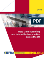 Hate Crime Recording and Data Collection Practice Across the EU (2018)