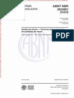 NBRISO-IEC31010 - Analise de Risco