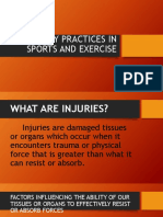 Safety Practices in Sports and Exercise