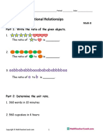 Unit 1 Test SE Ratios and Proportional Relationships